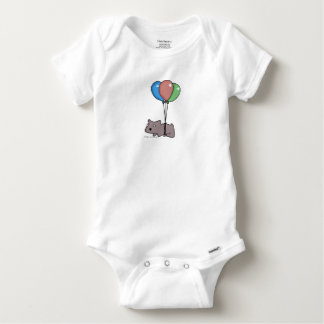Balloon Hamster Frank by Panel-O-Matic Baby Onesie