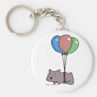 Balloon Hamster Frank by Panel-O-Matic Keychain