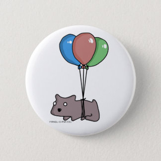 Balloon Hamster Frank by Panel-O-Matic Pinback Button