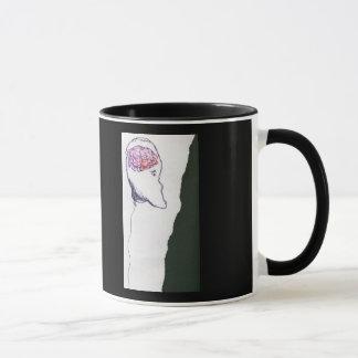 Balloon Head, Floating, a drawing Mug