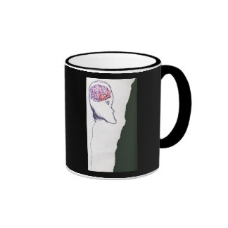 Balloon Head, Floating, a drawing Coffee Mug