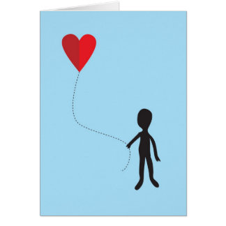 Balloon Heart Greeting Card