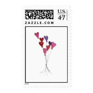 Balloon Hearts Custom Postage