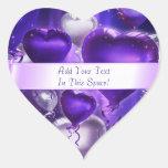 Balloon Hearts Customizable Heart Stickers