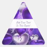 Balloon Hearts Customizable Triangular Stickers