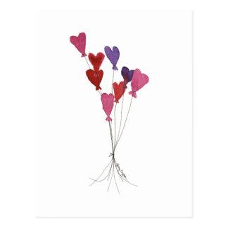 Balloon Hearts Postcard