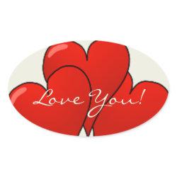 Balloon Hearts - Sticker