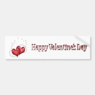 Balloon Hearts w/Little Hearts Valentine Bumper Sticker