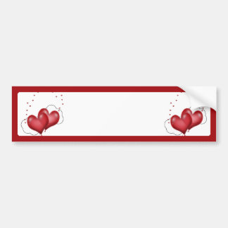 Balloon Hearts with Little Hearts Bumper Sticker