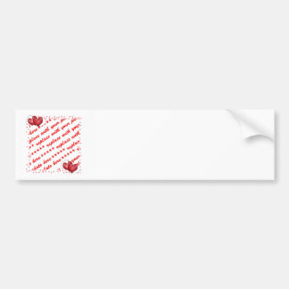 Balloon Hearts with Little Hearts Photo Frame Bumper Sticker