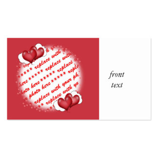 Balloon Hearts with Little Hearts Photo Frame Business Card