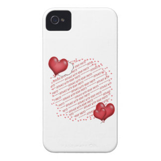 Balloon Hearts with Little Hearts Photo Frame iPhone 4 Case
