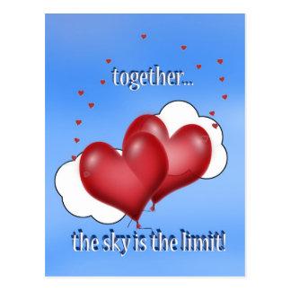 Balloon Hearts with Little Hearts Postcard