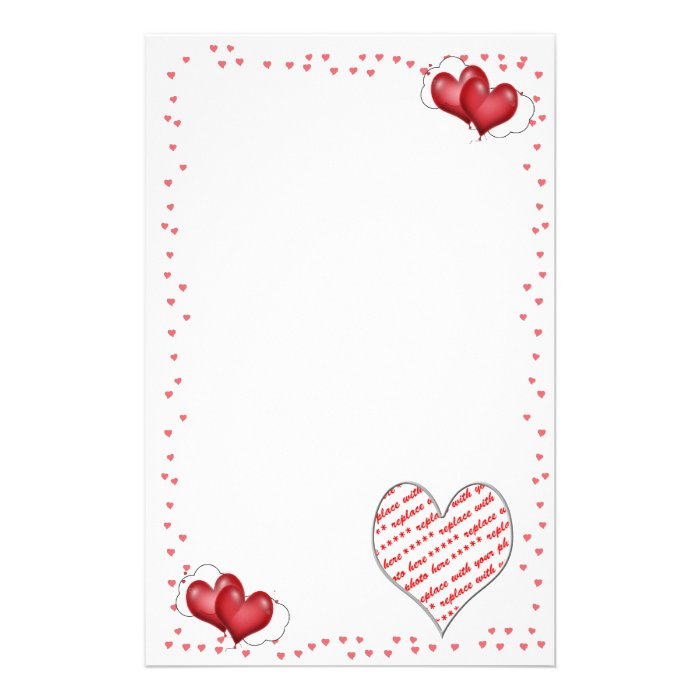 Balloon Hearts with Little Hearts Stationery