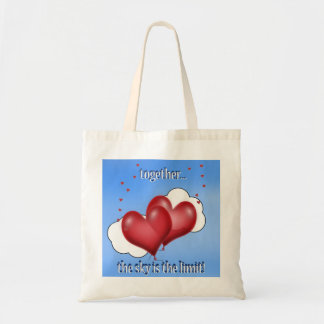 Balloon Hearts with Little Hearts Tote Bag