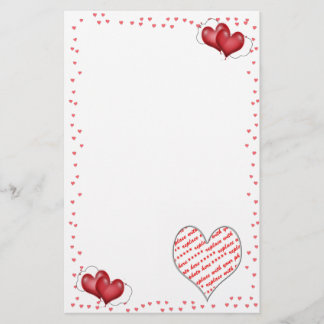 Balloon Hearts with Photo Frame Stationery