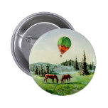 BALLOON & HORSES by SHARON SHARPE Buttons