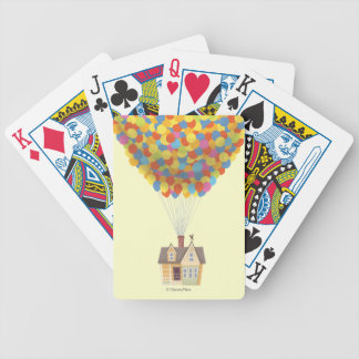 Balloon House from the Disney Pixar UP Movie Bicycle Playing Cards
