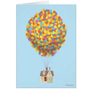 Balloon House from the Disney Pixar UP Movie Card