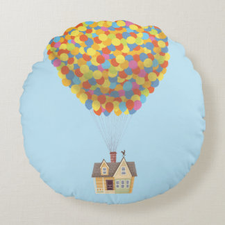 Balloon House from the Disney Pixar UP Movie Round Pillow