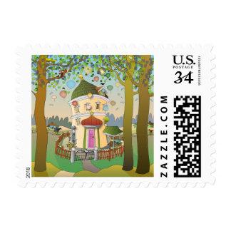 Balloon House Stamp