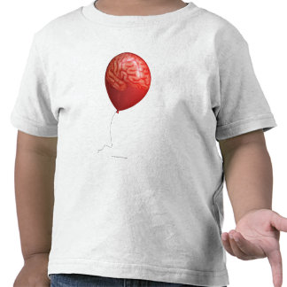 Balloon illustration with a superimposed brain shirt