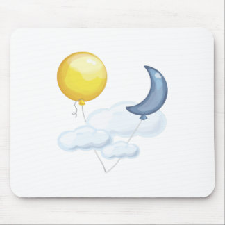 Balloon In Sky Mouse Pads