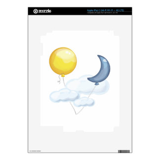 Balloon In Sky Skins For iPad 3