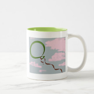 Balloon in the Clouds Two-Tone Coffee Mug