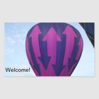 Balloon, Indecision Rectangular Sticker