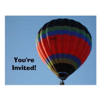 Balloon Invitation Postcard