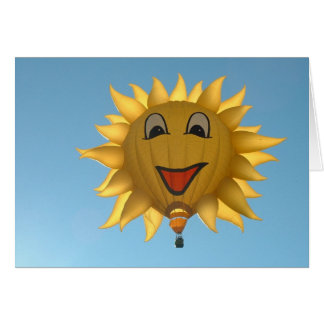 Balloon Let the sun shine Card