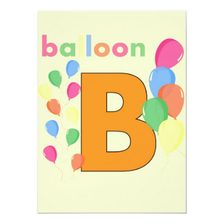 Balloon Letter B Card