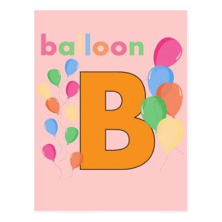 Balloon Letter B Postcard