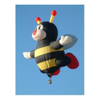 Balloon Lilly bee Postcard