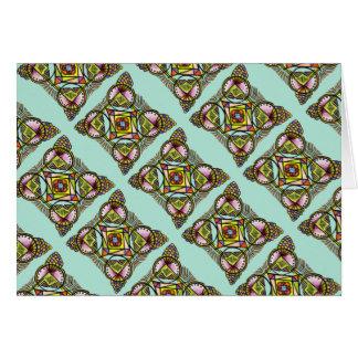 balloon mandala greeting card hippie pattern