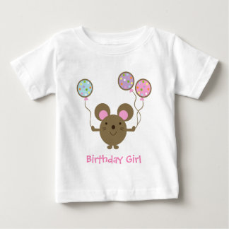 Balloon Mouse Birthday Girl T-Shirt