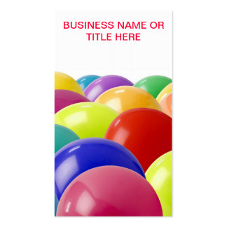 balloon or party organiser business card