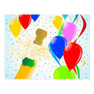 Balloon Party Postcard