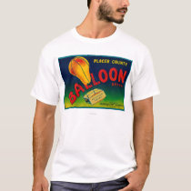 Balloon Pear Crate Label T-Shirt