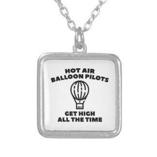 Balloon Pilots Silver Plated Necklace