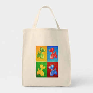 Balloon Poodle Grocery Tote Bag