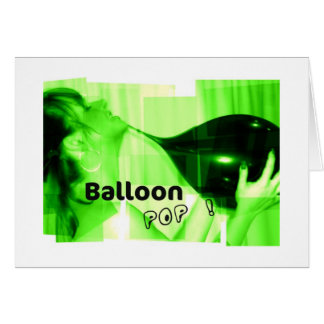 Balloon Pop Card