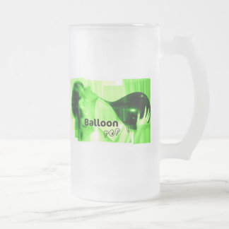Balloon Pop Frosted Glass Beer Mug