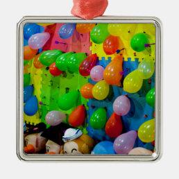 Balloon Pop Metal Ornament