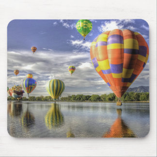 Balloon race reflections mouse pad