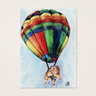 Balloon Ride (Hamster) ACEO Art Trading Cards