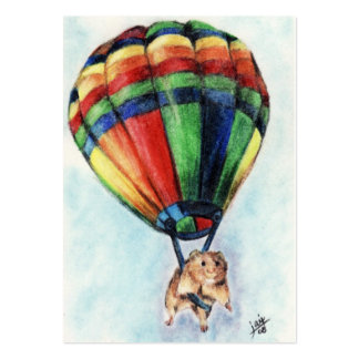 Balloon Ride (Hamster) ACEO Art Trading Cards Large Business Card