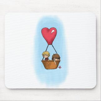 """""""Balloon Ride"""" Lionel & Grace Mousepad"""