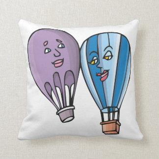 Balloon Romance Throw Pillows